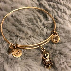 Alex & Ani bracelet gold with owl